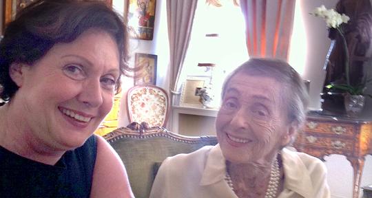 Georgia Tornow mit Luise Rainer